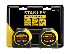 Stanley FatMax Classic Tape Twin Pack 8m/26ft (Width 32mm)