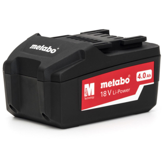 Metabo 625591000 18V Li-Power Li-Ion 4Ah Battery Pack - 4.0ah Bat