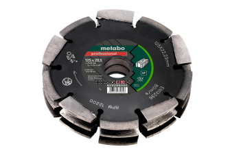 Metabo 628299000 NDia-CD3 125mm 3R Professional UP Universal Wall Chaser Blade for MFE40