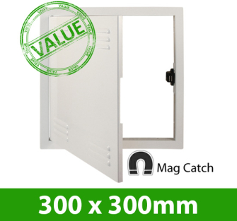 Value Metal Vent Access Panel Mag Catch 300x300 PF
