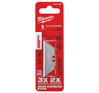Milwaukee 5 Piece General Purpose Utility Knife Blades Pack - 48221905