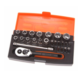 Bahco - Socket Set 25-Piece 1/4-inch Drive  - SL25