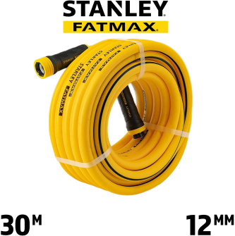 STANLEY FATMAX 30m x 12mm Professional Grade Garden Hose with Quick Connector