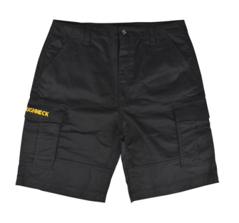 Roughneck Black Cargo Work Shorts - Black