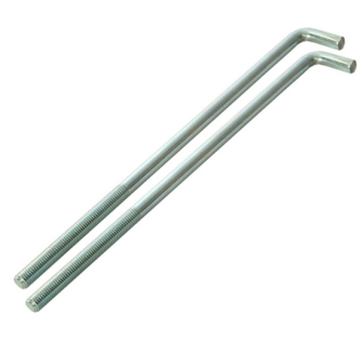 Faithfull External Building Profile - 460 mm (18 inch) Bolts (Pack of 2) - Pack of 2