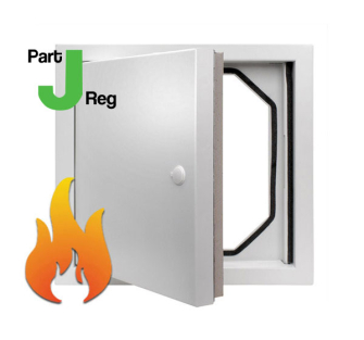 Metal Access Panels - Standard Lock - Fire Rated Picture Frame Part J Reg - 300x300mm