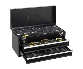 Siegen S01055 From Sealey Portable Tool Chest 2 Drawer with 90pc Tool Kit - Tool Kits