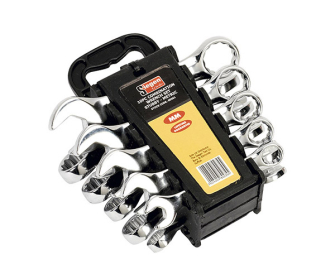 Siegen S0561 From Sealey Combination Spanner Set 10pc Stubby Metric - Stubby