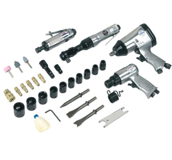 Sealey SA2004KIT Air Tool Kit 4pc with Accessories - Impact Wrenches