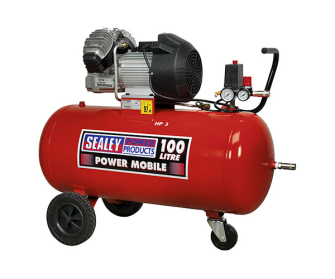Sealey SAC10030 Compressor 100ltr V-Twin Direct Drive 3hp - Oiled