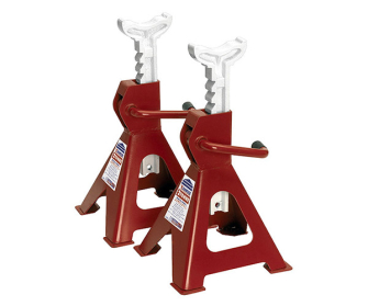 Sealey VS2002 Axle Stands (Pair) 2tonne Capacity per Stand Ratchet Type - Ratchet