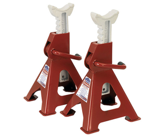 Sealey VS2003 Axle Stands (Pair) 3tonne Capacity per Stand Ratchet Type - Ratchet