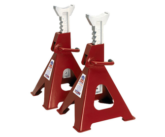 Sealey VS2006 Axle Stands (Pair) 6tonne Capacity per Stand Ratchet Type - Ratchet
