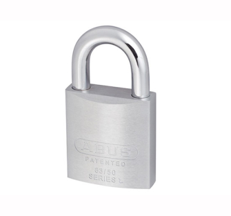 ABUS 83/50 Chrome Plated Brass Padlock Open Shackle