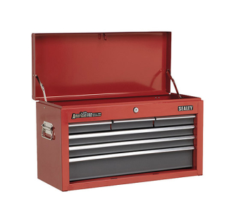 Sealey AP2201BB Topchest 6 Drawer with Ball Bearing Runners Red/G