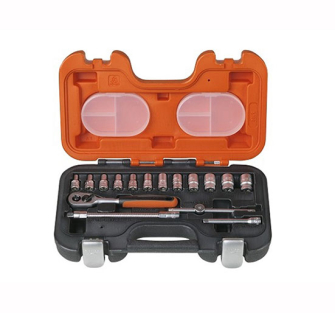 Bahco S160 Socket Set 16 Piece 1/4in Drive - 16 Piece Set