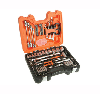 Bahco S910 Socket and Spanner Set 92 Piece 1/4 & 1/2in Drive - 92