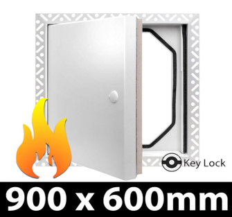 Fire Rated Access Panel - Security Lock - 900x600mm BF