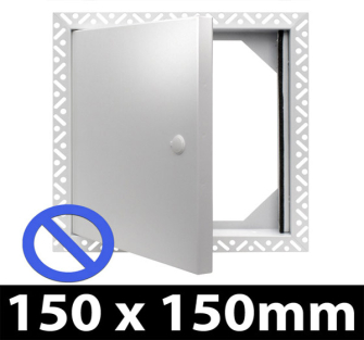 Non Fire Rated Metal Access Panel - Standard Lock - 150x150mm - Beaded Frame