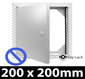Non Fire Rated Metal Access Panel - Security Lock - 200x200mm - Beaded Frame