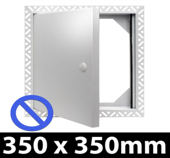 Non Fire Rated Metal Access Panel - Standard Lock - 350x350mm - Beaded Frame