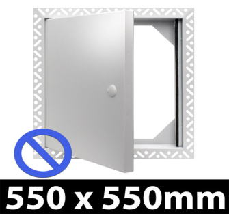 Non Fire Rated Metal Access Panel - Standard Lock - 550x550mm BF
