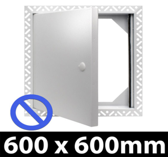 Non Fire Rated Metal Access Panel - Standard Lock - 600x600mm - Beaded Frame