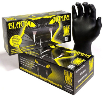 Black Mamba Industrial Strength Nitrile Gloves - Box of 100