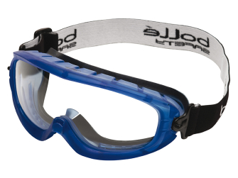 Bolle Atom Safety Goggles Clear - Ventilated Foam Seal - Safety G