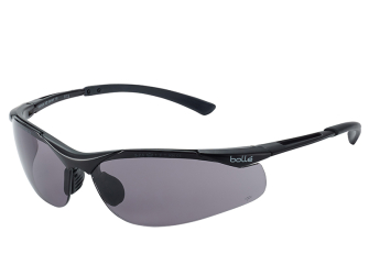 Bolle Contour Safety Glasses - Smoke - Safety Glasses