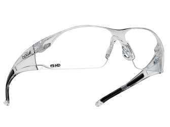 Bolle Rush Safety Glasses - Clear HD Lens - Safety Glasses