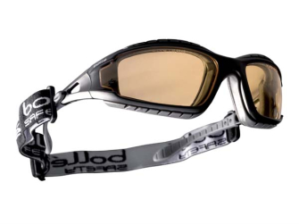 Bolle Tracker Safety Glasses Vented Yellow - Safety Goggle
