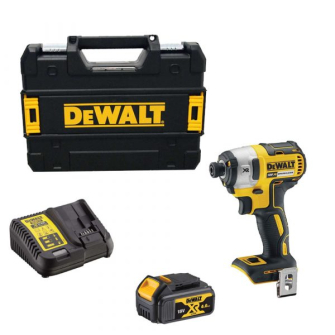 DeWalt DCF887M1 Cordless 18V XR Brushless Impact Driver with 4Ah Battery and Carry Case