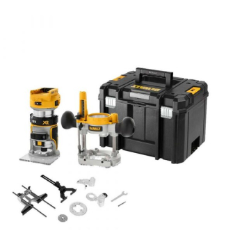 DeWalt DCW604NT Cordless 18V XR Li-ion 1/4″ 6.35 Brushless Router Plunge With Carry Case
