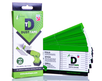 Dust Tape 20 Pack Adhesive Drill Dust Sheet - JD Brands