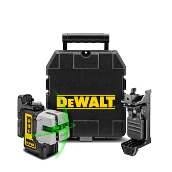 DeWalt DW089CG 3-Way Self-Levelling Cordless IP54 Multi Line Green Laser Level with Case and Accessories