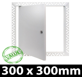 Value Metal Access Panel - Slotted Lock - 300x300mm Beaded Frame