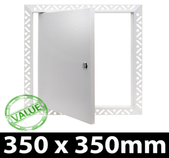 Value Metal Access Panel - Slotted Lock - 350x350mm Beaded Frame
