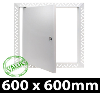 Value Metal Access Panel - Slotted Lock - 600x600mm Beaded Frame