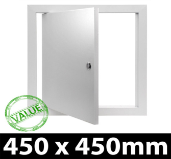 Value Metal Access Panel - Slotted Lock - 450x450mm PF - 5 Panel