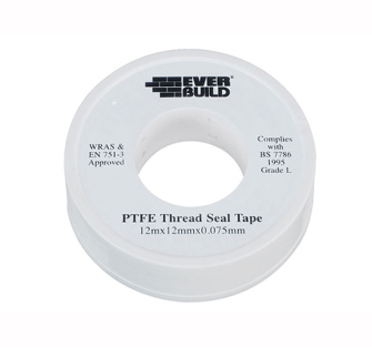 Everbuild P.T.F.E Tape 12mm x 12m - Water - Water