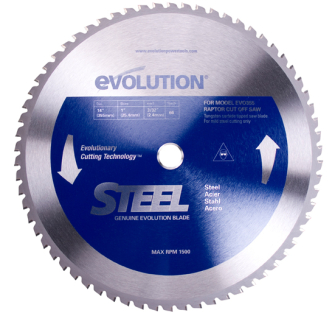 Evolution TCT Steel Cutting Blade - 355mm 66 Tooth - 66TBLADE