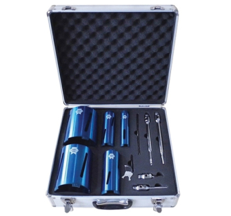 Faithfull FAIDCKIT11 11 Piece Diamond Core Drill Kit and Case