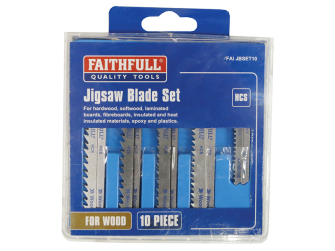 Faithfull Jigsaw Blade Set 10pc Assorted - Blades
