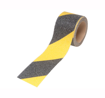 Faithfull Anti-Slip Tape Self Adhesive 3m x 50 mm Black / Yellow