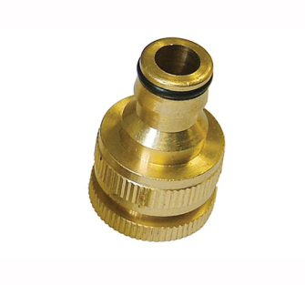 Faithfull Brass Dual Tap Connector 1/2in & 3/4in - Hose Fittingbr