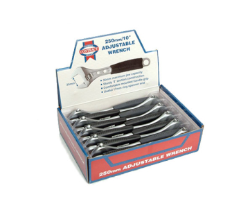 Faithfull Contract Adjustable Wrench 250mm Display (10) - Wrench Adjustable