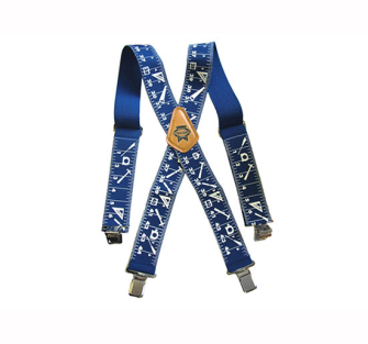 Faithfull Heavy-Duty Braces 50mm Wide - Blue - Braces Trouser