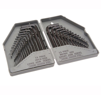 Faithfull Hex Key Set 30 Piece Metric/Imperial (0.7-10mm 1/16-3/8