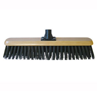 Faithfull Platform Broom Head Black PVC 45cm (18in) Threaded Sock